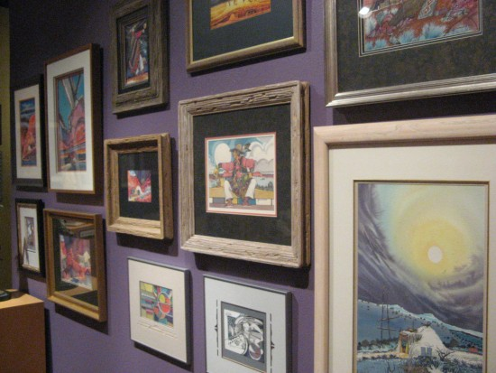 Contemporary pieces include ink and watercolor paintings