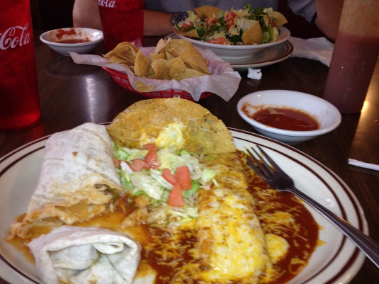 Delicious lunch at Salsa Trail's La Casita in Thatcher, Ariz.