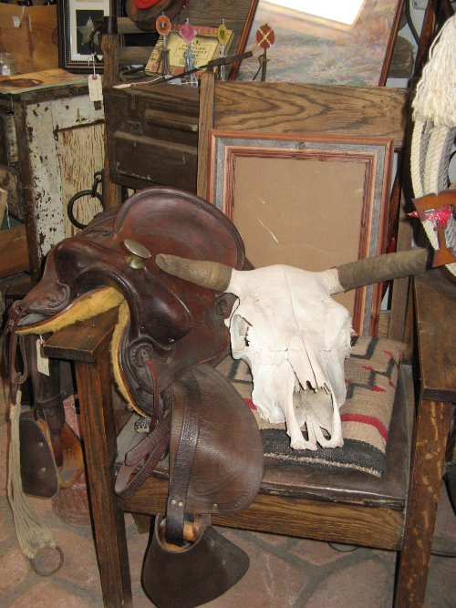 A saddle or skull from Pickle Barrel will round out your decor