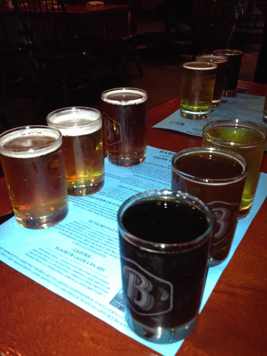 Babe's Bar-B-Que and Brewhouse beer sampler