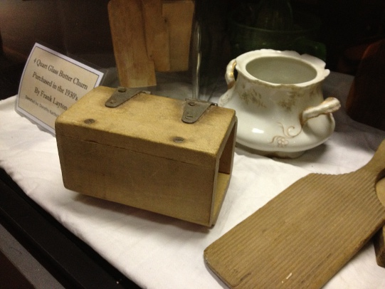 Old butter churn, paddle and mold: Discovery Park's also a temporary host for Graham County history