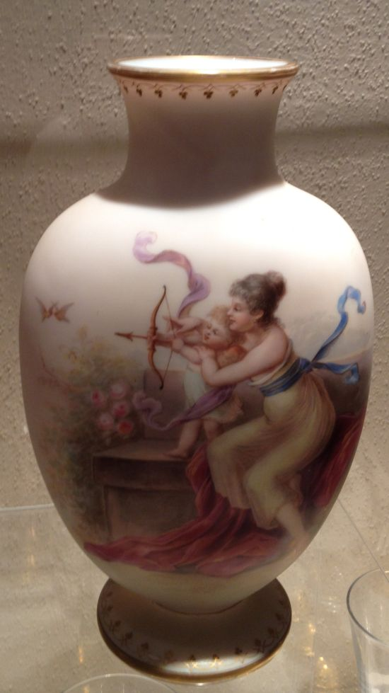 Ornate vase on display at McCullough-Price House