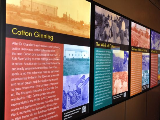 Banners tell the history of Chandler's cotton farming