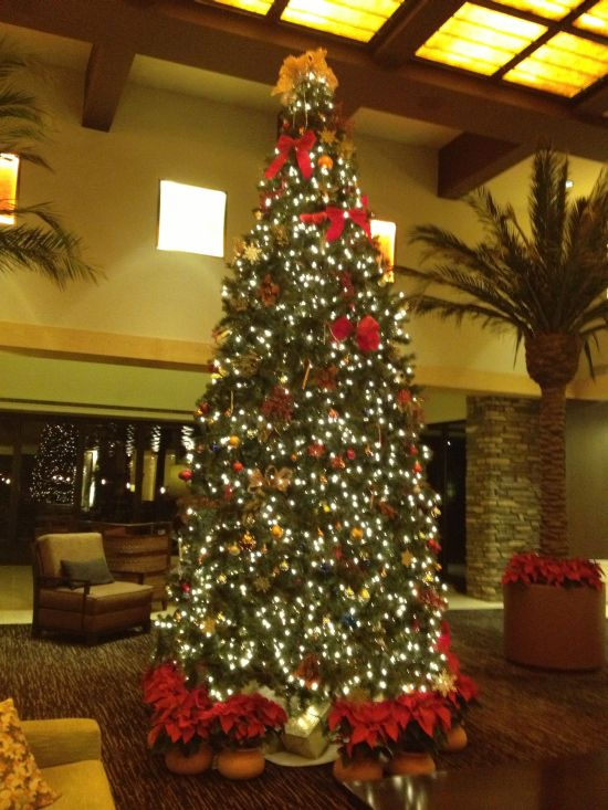 Beautiful Christmas tree in the Westin Kierland Villas lobby