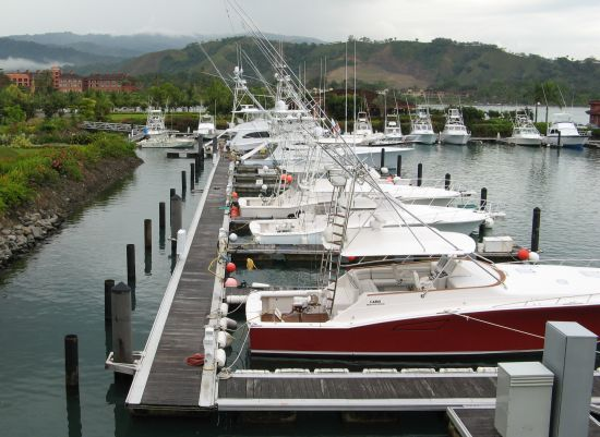 Views of the marina, Herradura Bay and Los Suenos Resort from The Hook Up Restaurant and Bar