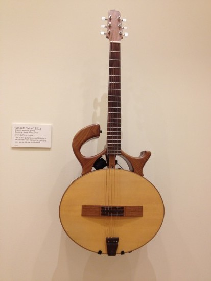 """Electric acoustic"" guitar from South Africa at the Music Instrument Museum"