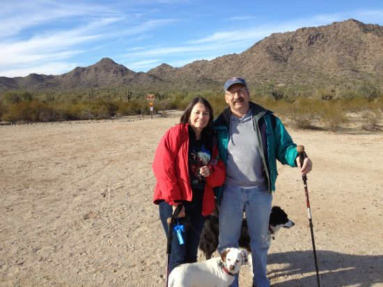 Chilly New Year's Day hike at San Tan Regional Park