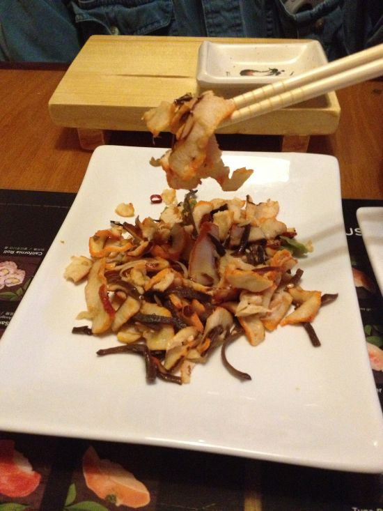 Squid salad is our favorite starter