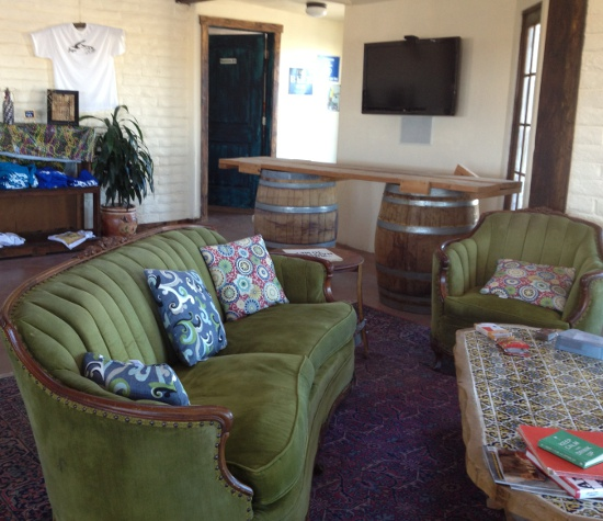 Tasting area has all the comforts of a farmhouse sitting room