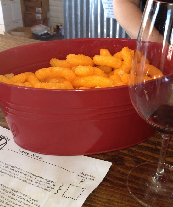 Cheetos pair well with any wine