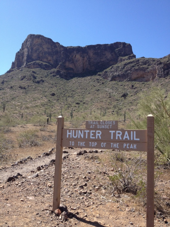 Hunter Trail is a popular option at Picacho Peak