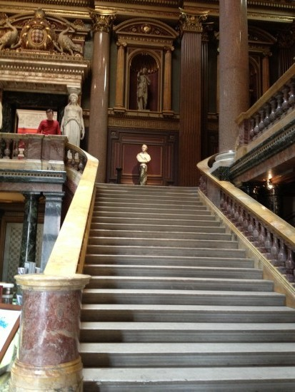 museum stairs