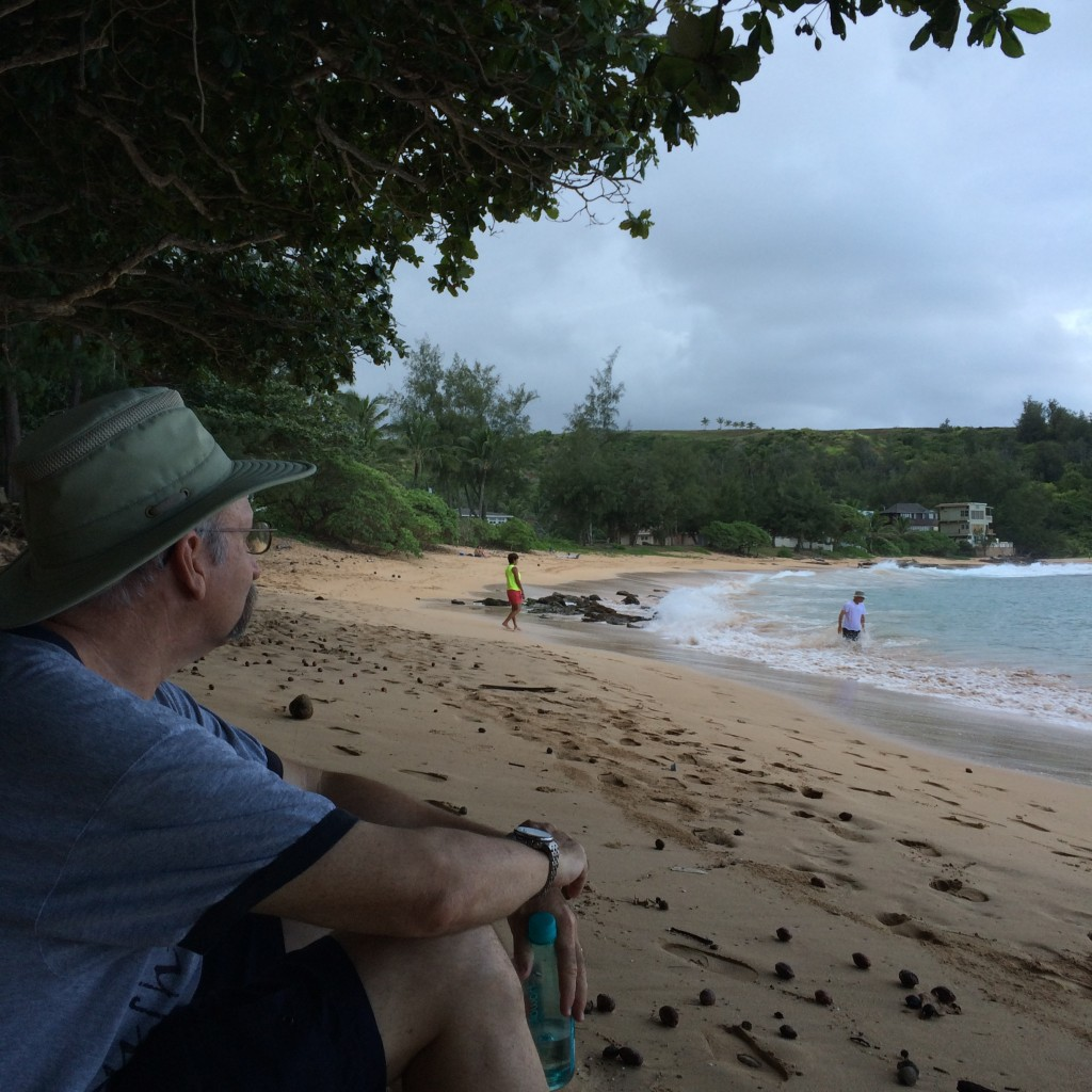 Moloa'a Bay is quiet, calm cove to have beach time away from the tourists