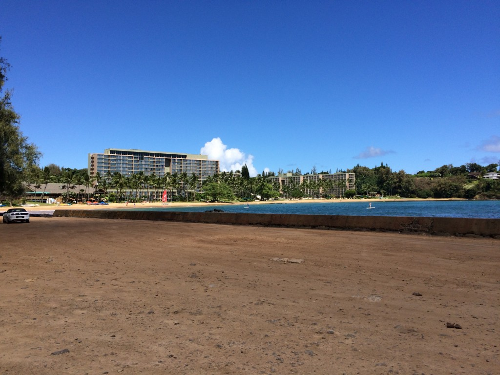 Kalapaki Beach, at the foot of the Kauai Marriott Resort. is often the last beach stop we make before heading to Lihue airport
